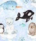 Snuggle Flannel Fabric 43\u0022-Arctic Friends