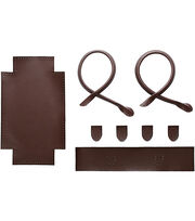 Bergere De France Small Faux Leather Tote Kit-Brown, , hi-res