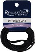 Sof-Suede Lace .094\u0022 Carded 2yd-Gothic Black