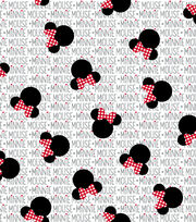 Disney Minnie Mouse Cotton Fabric 43''-Minnie Heads with Bows, , hi-res