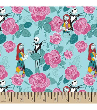 Nightmare Before Christmas Coton Fabric-Packed Roses