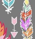 Anti-Pill Fleece Fabric 59\u0022-Pastel Feathers & Arrows