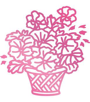 Couture Creations C'est La Vie 2''x2'' Hotfoil Stamp-Basket of Flowers