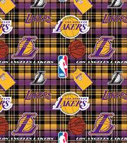 LA Lakers Fleece Fabric -PLaid, , hi-res