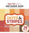 Echo Park Double-Sided Paper Pad 6\u0022X6\u0022 24/Pkg-Fall Dots & Stripes