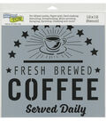 The Crafter\u0027s Workshop 12\u0027\u0027x12\u0027\u0027 Stencil-Fresh Coffee