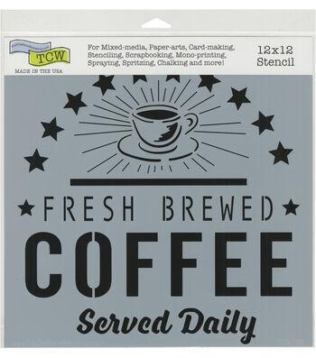 The Crafter's Workshop 12''x12'' Stencil-Fresh Coffee