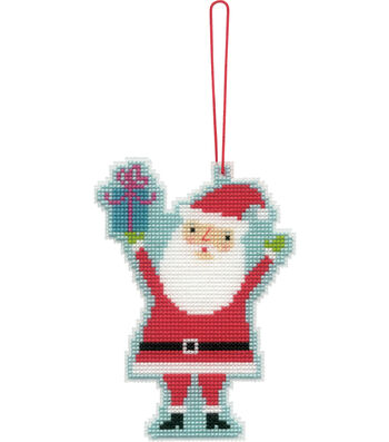 Stitch Kit Ornament-Santa