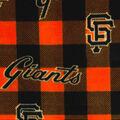 San Francisco Giants Fleece Fabric-Buffalo Plaid