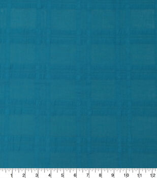 Cotton Windowpane Textured Fabric