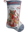 Old World Santa Stocking Counted Cross Stitch Kit 28 Count