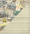 Double-Sided Cardstock 12\u0022X12\u0022-Postcards Newspaper & Travel Itinerary
