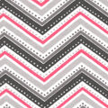 Snuggle Flannel Fabric -Pink Dotted Chevron