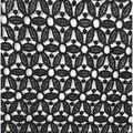 Knit Lace Fabric 47\u0027\u0027-Black Geometric Daisy