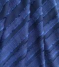 Silky Sheer Crepe Fabric 56\u0022-Navy Stripe