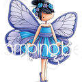 Stamping Bella 2 pk Cling Stamps-Tiny Townie Blanche the Butterfly
