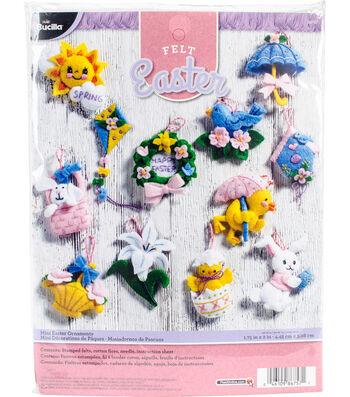 Bucilia Felt Applique Set 12 Pack-Easter Ornaments