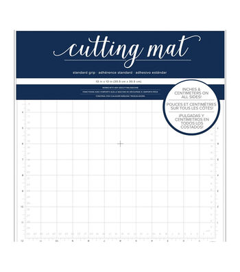 "American Crafts 12""X12"" Adhesive Cutting Mat"