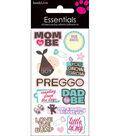 Essentials Dimensional Stickers 2.25\u0022X5\u0022 Sheet-Mom&Dad To Be