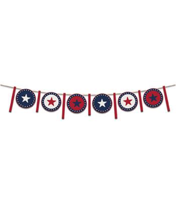 Americana Patriotic 5' Garland-Stars