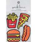 Park Lane Paperie 4 pk Imitation Leather Stickers-Fast Food