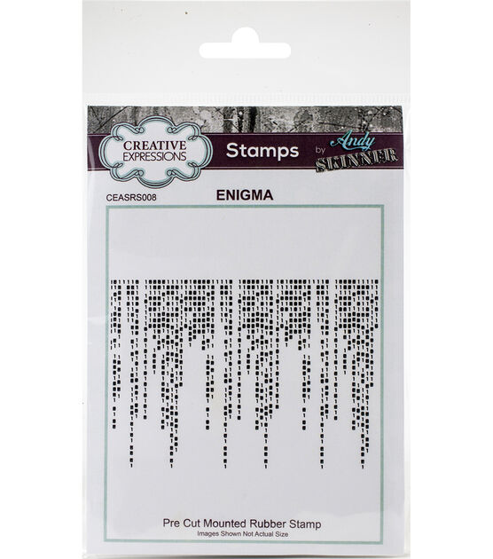 Creative Expressions Rubber Stamp By Andy Skinner-Enigma