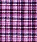 Snuggle Flannel Fabric 42\u0022-Purple Plaid