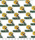 Green Bay Packers Cotton Fabric 58\u0027\u0027-White