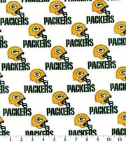 Green Bay Packers Cotton Fabric -White, , hi-res