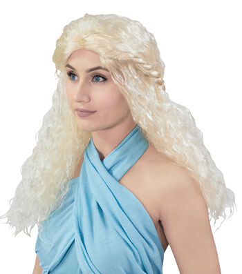 Maker's Halloween 23'' Adult Female Wig-Silver Blonde