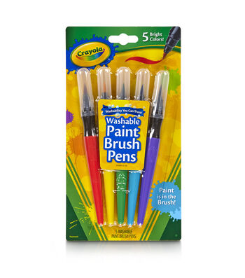 Crayola 5ct No Drip Paint Brush Pens