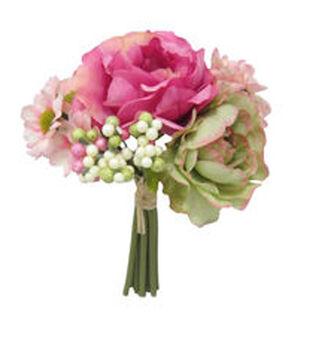 Bloom Room Peony, Rose & Berry Stem Bundle-Pink & Cream