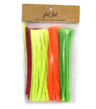 Fab Lab Craft 100 pk Mini Chenille Stems-Neon