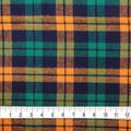 Plaiditudes Brushed Cotton Fabric-Orange, Green & Navy Square Plaid