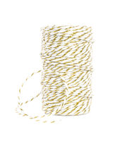 Park Lane Twine-Gold & White, , hi-res