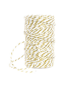 Park Lane Twine-Gold & White