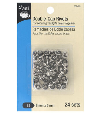 Dritz Double Cap Rivets-Nickel