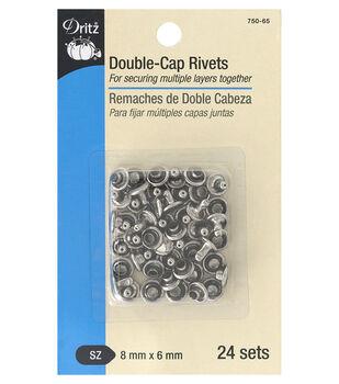 Dritz Double Cap Rivets-Nickel