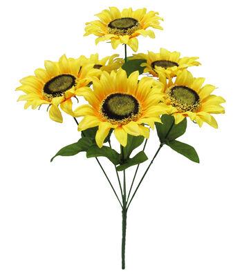 Fresh Picked Spring 15'' Sunflower Bush-Yellow