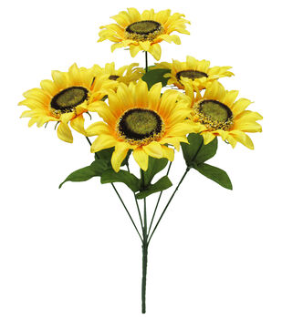 Fresh Picked Spring 15'' Sunflower Bush-Yellow