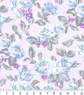 Made in America Cotton Fabric-Shabby Chic Floral Purple