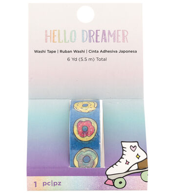 American Crafts Hello Dreamer Washi Tape 6 yds.-Donuts