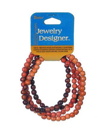 """Darice Jewelry Designer String Beads-Wood (32"""")"""