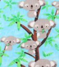 Anti-Pill Fleece Fabric 61\u0022-Happy Koalas