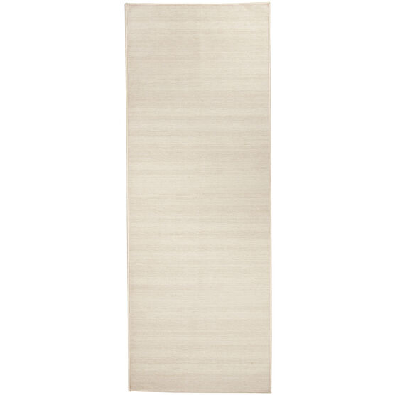 Ruggable Washable 2.5x7' Runner Rug Solid Textured Cream, , hi-res, image 1