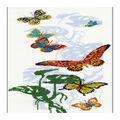 RIOLIS 8.75\u0027\u0027x19.75\u0027\u0027 Counted Cross Stitch Kit-Exotic Butterflies