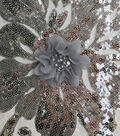 Gianna Sequins Embroidery on Mesh Fabric