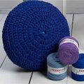 Hoooked Zpagetti Pouf DIY Crochet & Knit Kit-Silver & Gray