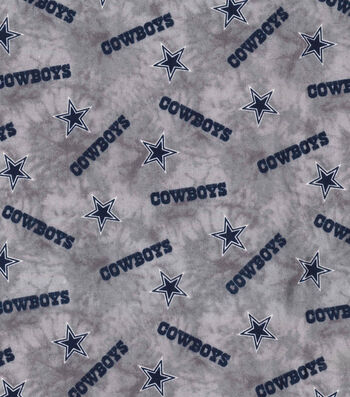 "Dallas Cowboys Flannel Fabric 42""-Tie Dye"