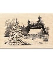Inkadinkado Rubber Stamp-Snowy Cabin, , hi-res